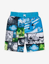 Angry Birds in Space Panel Print Board Shorts – Boys 4-7