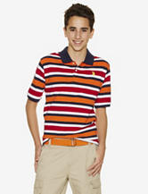 U.S. Polo Assn. Navy & Orange Striped Piqué Polo Shirt – Boys 8-18