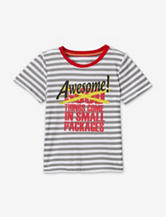 Max & Mini Striped Awesome Things T-shirt – Toddler Boys