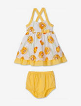 Penny M. Yellow Floral Print Swiss Dot Dress – Baby 12-24 Mos.