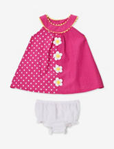 Nannette Pink & Yellow Polka Dot Dress – Baby 12-24 Mos.