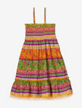 Squeeze Orange & Green Paisley Convertible Dress – Girls 7-16