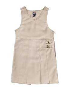 French Toast Solid Color Buckle Tab Jumper – Girls 7-14