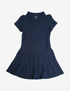 French Toast Navy Piqué Polo Dress – Girls 7-14