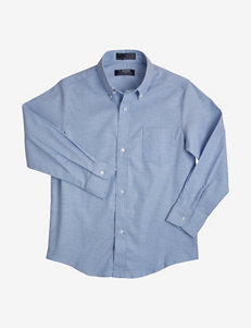 French Toast Solid Color Oxford Shirt – Boys Husky