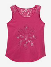 Speechless Pink Lace Daisy Cutout Tank Top – Girls 7-16
