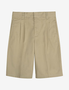 French Toast Pleated Front Adjustable Waist Shorts – Boys Husky