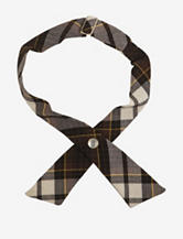 French Toast Adjustable Brown Plaid Cross Tie