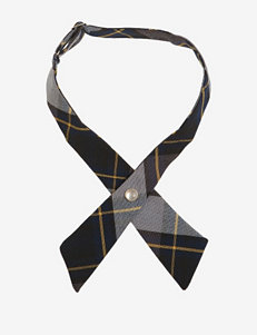 French Toast Adjustable Blue & Gold Plaid Cross Tie
