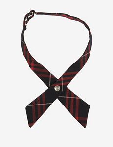 French Toast Adjustable Navy & Red Plaid Cross Tie
