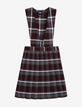 French Toast Pleated Maroon Plaid Uniform Jumper – Girls 4-6x