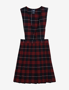 French Toast Pleated Red Plaid Uniform Jumper – Girls 4-6x