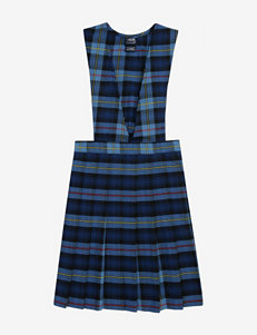 French Toast Pleated Blue Plaid Uniform Jumper – Girls 7-16