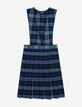French Toast Pleated Blue Plaid Uniform Jumper – Girls 7-16