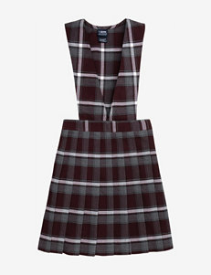 French Toast Pleated Maroon Plaid Uniform Jumper – Girls 7-16