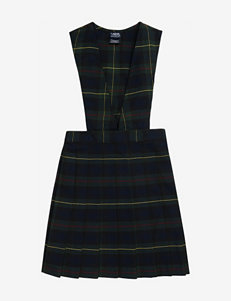 French Toast Pleated Navy Plaid Uniform Jumper – Girls 10-20 Plus
