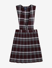 French Toast Pleated Maroon Plaid Uniform Jumper – Girls 10-20 Plus