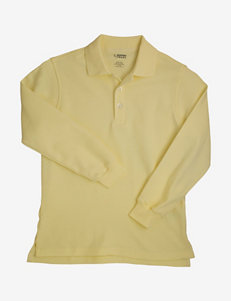 French Toast Solid Color Interlock Knit Polo Shirt – Boys 4-7