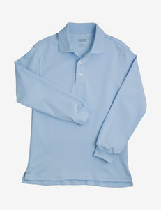 French Toast Solid Color Interlock Knit Polo Shirt – Boys Husky