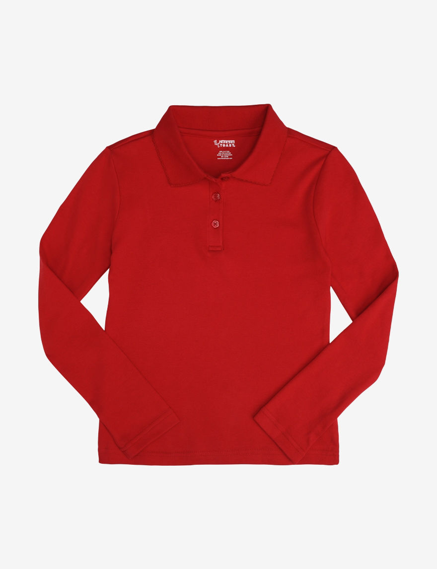 French Toast Red Polos
