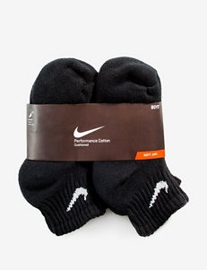 Nike® 6-pk. Black Quarter Cushioned Performance Socks – Boys