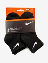 Nike® 6-pk. Black Performance Quarter Socks – Boys