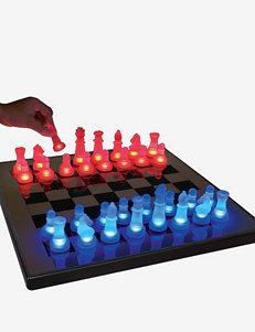 LumiSource Blue & Red LED Glow Chess Set