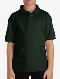 Dickies Green Short Sleeve Pique Polo Shirt – Boys 8-20