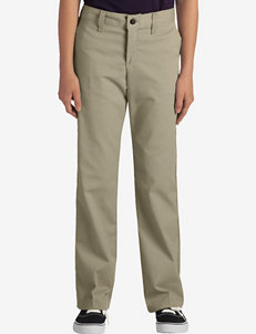 Dickies Solid Color Stretch Classic Fit Adjustable Waist Straight Leg Pants – Girls Plus