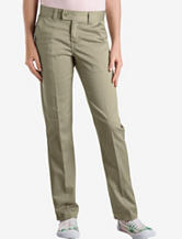 Dickies Solid Color Slim Straight Stretch Adjustable Waist Pants – Girls 4-6x