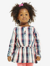 Carter's® Coral & Turquoise Plaid Woven Tunic Top – Toddlers & Girls 4-6x