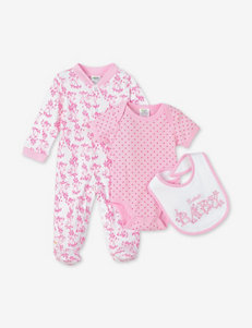Baby Gear 3-pc. Pink & White ABC Sleeper Set – Baby 3-6 Mos.