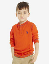 U.S. Polo Assn. Solid Color Henley T-shirt – Boys 4-7