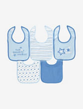 Cutie Pie 5-pk. Thank Heaven for Little Boys Blue Bibs