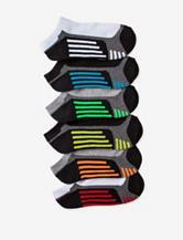 Game Sport 6-pk. Striped Color Block Half Cushioned No-Show Socks – Boys 7-9