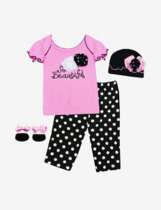 Baby Essentials 4-pc. Pink & Black So Beautiful Outfit Box Gift Set – Baby 0-6 Mos.