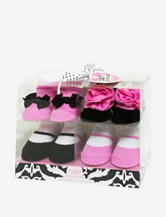 Baby Essentials 4-pk. Pink & Black So Beautiful Socks –Baby