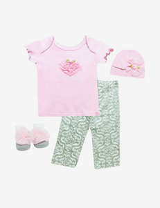 Baby Essentials 4-pc. Pink & Grey Little Cutie Outfit Box Gift Set – Baby 0-6 Mos.