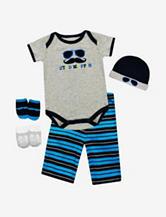 Baby Essentials 5-pc. Stud Muffin Mustache Bodysuit Box Gift Set – Baby 0-6 Mos.