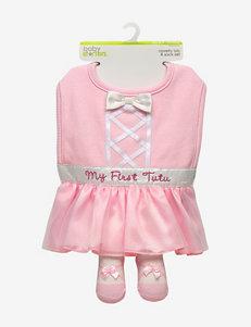 Baby Starters Pink Bibs & Burp Cloths