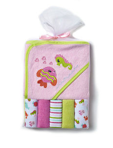 Cutie Pie Pink Hooded Towels