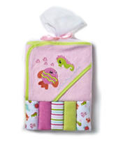 Cutie Pie 6-pc. Pink Fish Terry Cloth Bath Set – Baby Girl