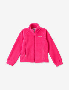 Columbia Bright Pink Fleece & Soft Shell Jackets