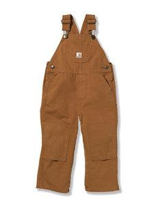 Carhartt Brown Bib Overalls – Toddler Boys