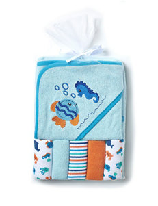 Cutie Pie Blue Hooded Towels