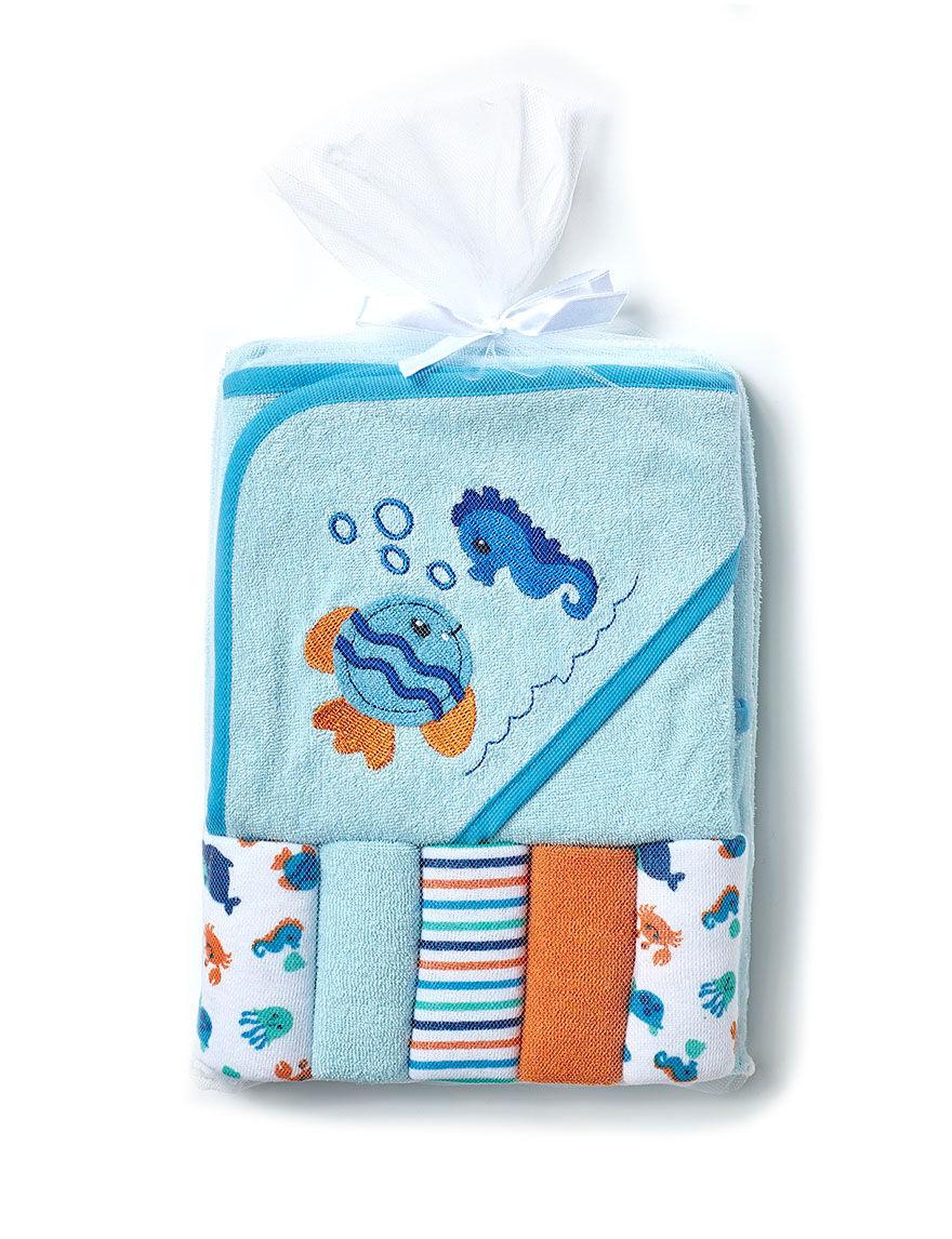 Cutie Pie Blue Hooded Towels