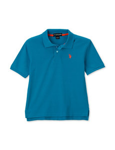 U.S. Polo Assn. Ocean Spray Blue Piqué Polo Shirt – Boys 8-20