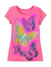 Twirl Neon Pink Butterfly T-Shirt – Girls 7-16
