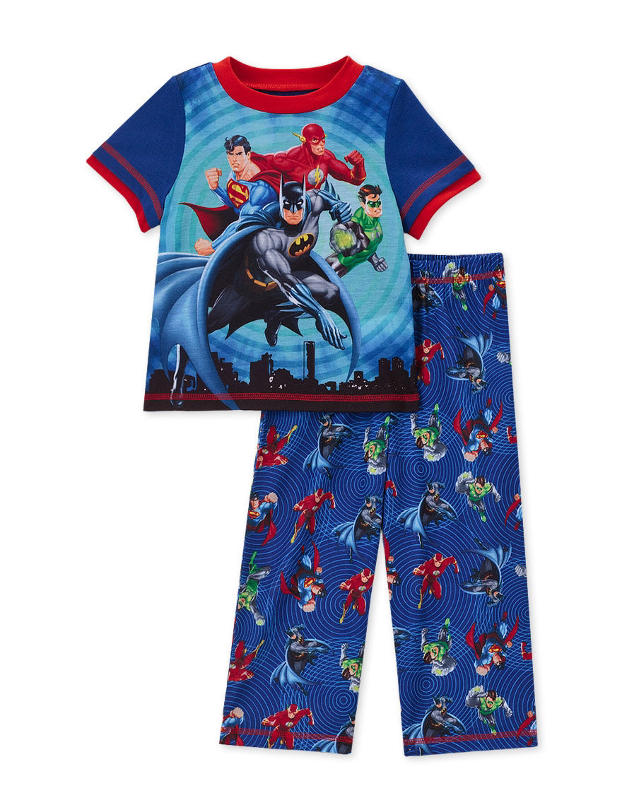 DC Comics Blue Pajama Sets