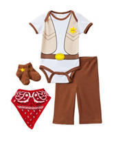 Baby Gear 4-pc. Brown Sheriff Bodysuit Set – Baby 0-3 Mos.